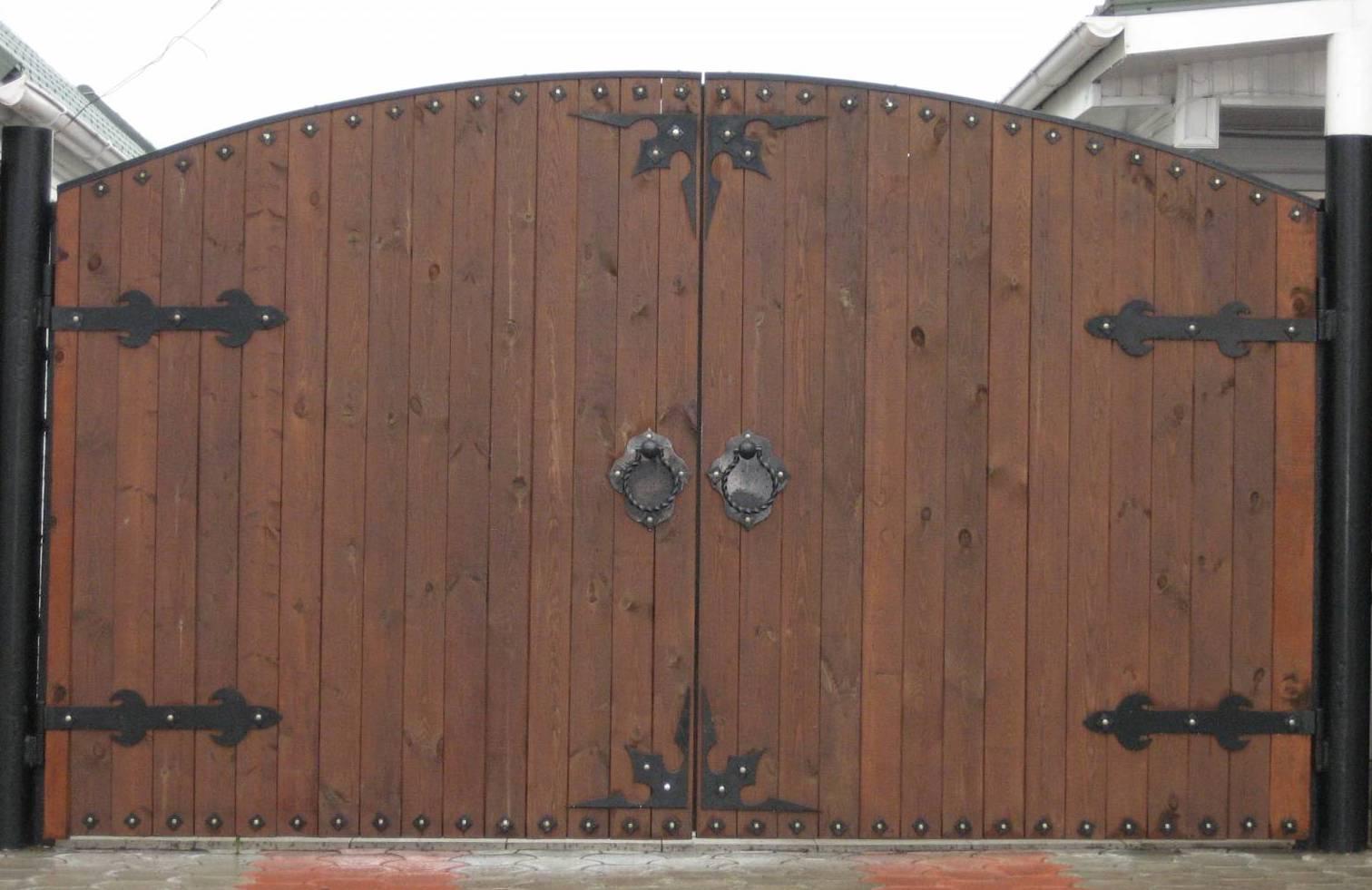 Деревянный ворота своими руками фото
